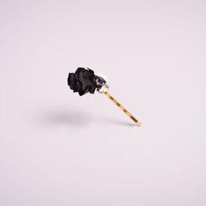 barrette à cheveux fleur noire