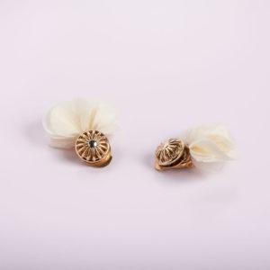 boucles d'oreille clips blanc