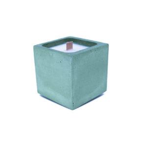 bougie béton coloré vert
